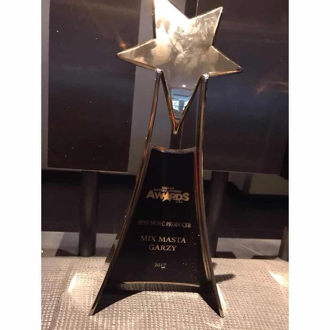 Mix Masta Garzy Wins Producer Of The Year at Ghana Entertainment Awards USA award